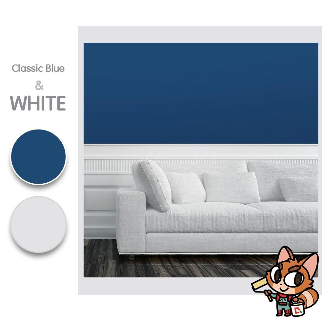สี Classic Blue Pantone 2020